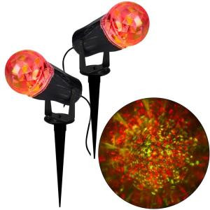 10.24 in. Projection Kaleidoscope LED RRY Light Stake (2-Pack)