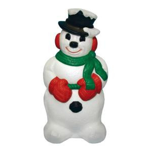 31 in. Snowman Statue without Pipe