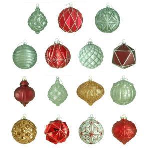 100 mm Winter Tidings Ornament Assortment (15-Count)