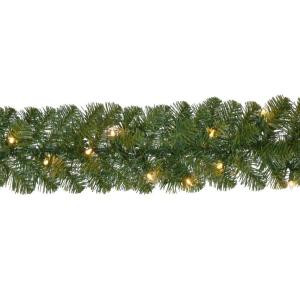 18 ft. Pre-Lit Noble Fir Garland with 100 Lights