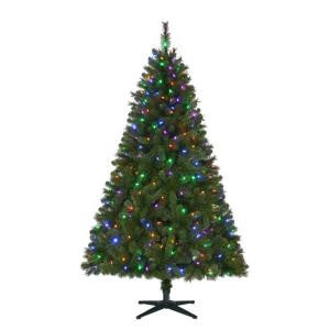 6.5 ft. Pre-Lit LED Wesley Artificial Christmas Tree with Color Changing Lights