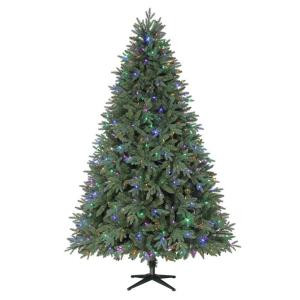7.5 ft. Harrison Fir Quick-Set Artificial Christmas Tree with 550 Color Choice LED Lights and Remote Control