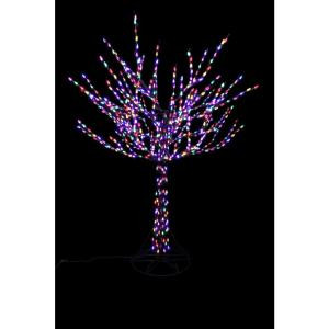 8 ft. Pre-Lit LED Bare Branch Tree with Multi-Colored Lights