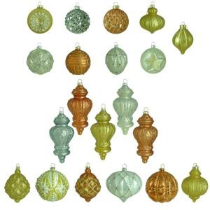 Holiday Shimmer Glass Set Ornament (20-Count)