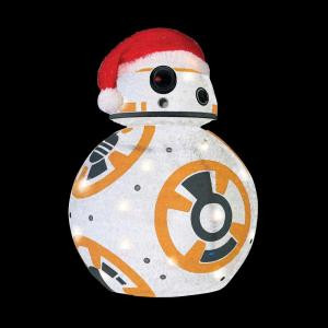 28 in. BB8 Star Wars Collapsible Tinsel Yard Decor