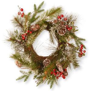 18 in. Pine Cone Artificial Wreath