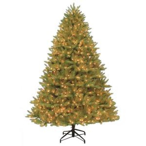 7.5 ft. H x 62 in. Dia. Pre-Lit Ozark Spruce Artificial Christmas Tree with Clear Lights