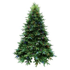 7.5 ft. Splendor Spruce EZ Power Artificial Christmas Tree with 660 42-Function LED Lights and Remote Control
