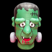 36 in. W x 36 in. D x 48 in. H Inflatable Halloween Monster Head with Disco Lights and LED Eyes