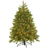 4.5 ft. Feel-Real Downswept Douglas Fir Artificial Christmas Tree with 300 Clear Lights