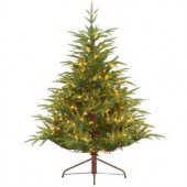 4.5 ft. Feel-Real Fraser Grande Artificial Christmas Tree with 250 Clear Lights