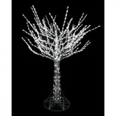 8 ft. Bare Branch Tree in White