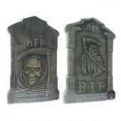 21 in. Spooky Tombstone Sculptures (Set of 2)