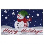 Happy Holidays 18 in. x 30 in. SuperScraper Vinyl/Coir Door Mat