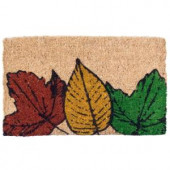 Fallen Leaves 18 in. x 30 in. Coir Door Mat