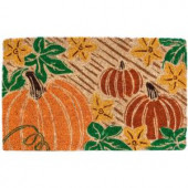 Pumpkin Patch 18 in. x 30 in. Coir Door Mat
