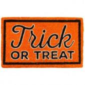 Trick or Treat 18 in. x 30 in. Coir Door Mat