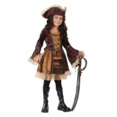 Sassy Victorian Pirate Child Costume