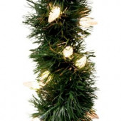 18 ft. Holiday Classics Artificial Garland with 50 C6 Clear Lights