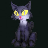 27.56 in. L x 23.62 in. W x 42.13 in. H Inflatable Outdoor Scary Cat