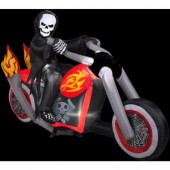 4.4 ft. Inflatable Reaper Motorcycle Scene