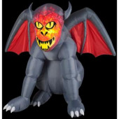 4.6 ft. Inflatable Projection Fire and Ice Gruesome Gargoyle