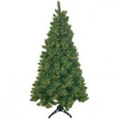 6.5 ft. Pre-Lit Half Artificial Christmas Tree with Clear Lights