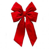 24 in. x 36 in. Commercial Red Velvet Bow