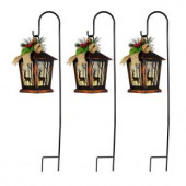 27 in. Christmas Reindeer Lantern Pathway Markers with Sheppard's Hook (Set of 3)