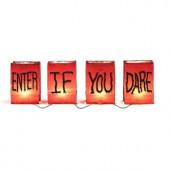 4-Light Enter If You Dare Luminary Light String