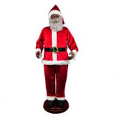 72 in. Animated Ethnic Santa