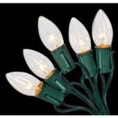 C9 25-Light Clear Color Incandescent Light String