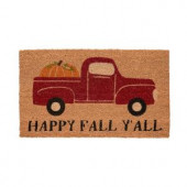 Fall Pickup 17 in. x 29 in. Coir Door Mat