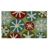 Snow Fun 17 in. x 29 in. Hand Hooked Holiday Mat