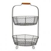 21 in. 2-Tier Wire Basket