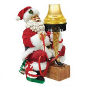 9 in. Santa with Leg Lamp Light-Up Tablepiece