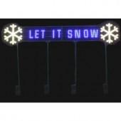 LED Message - Let It Snow