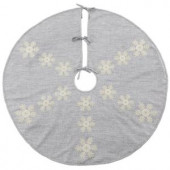 52 in. Snowflake Christmas Tree Skirt
