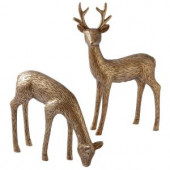 8.5 in. Etched Deer Figurines (Set of 2)