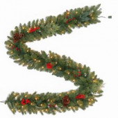 9 ft. Winslow Artificial Garland with 100 Clear Lights
