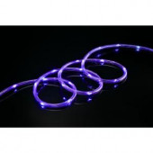 80-Light 16 ft. LED Purple Mini Rope Light TRUE-Tech 360° Directional Shine