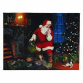 12 in. x 16 in. Santa's Secret Illuminart