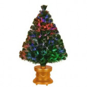3 ft. Fiber Optic Fireworks Evergreen Artificial Christmas Tree