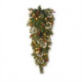 48 in. Wintry Pine Teardrop with Clear Lights