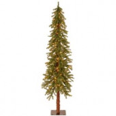 6 ft. Hickory Cedar Artificial Christmas Tree with Clear Lights