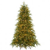 6.5 ft. Feel-Real North Frasier Artificial Christmas Tree with Lights