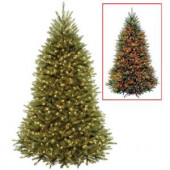 7.5 ft. Dunhill Fir Artificial Christmas Tree with Dual Color LED Lights