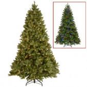 9 ft. Downswept Douglas Fir Artificial Christmas Tree with Dual Color LED Lights