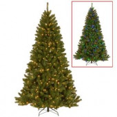 9 ft. PowerConnect North Valley Spruce Artificial Christmas Tree with Dual Color LED Lights