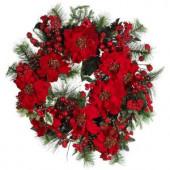 24 in. Poinsettia Wreath